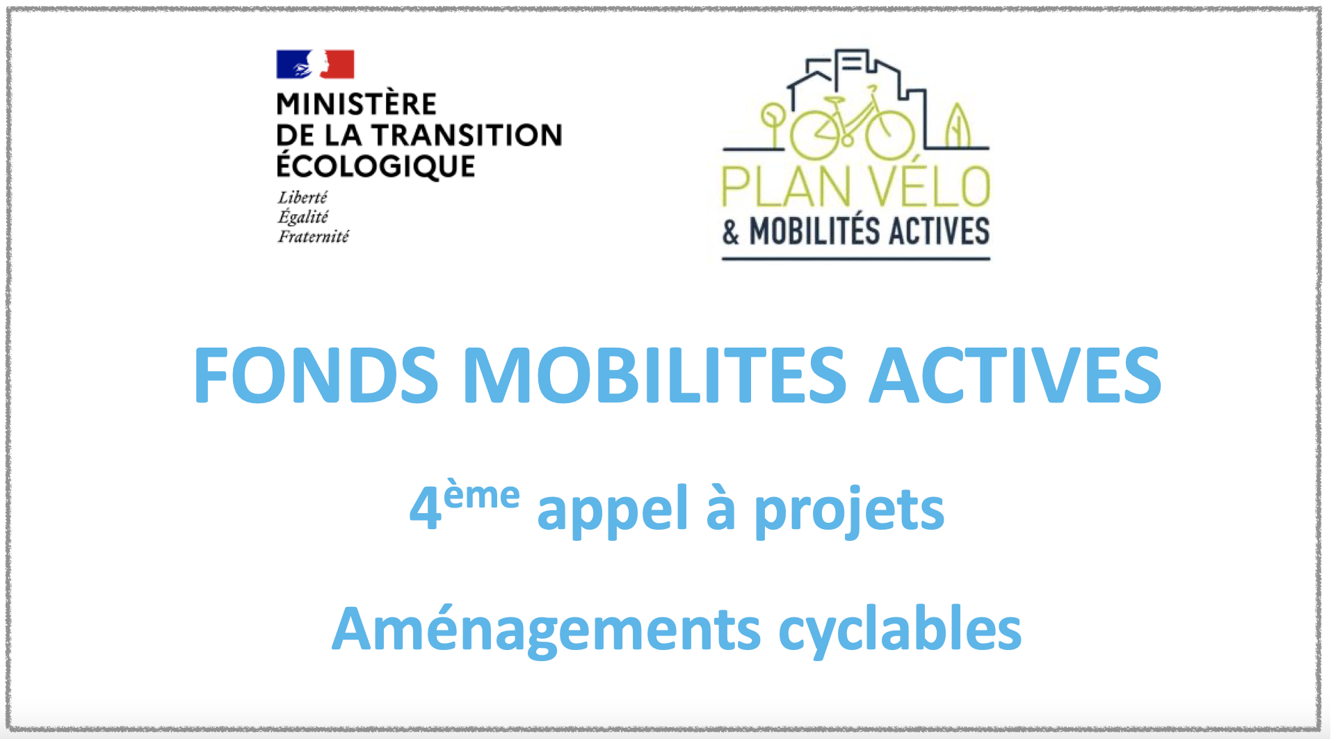 AAP Plan Vélo aménagements cyclables