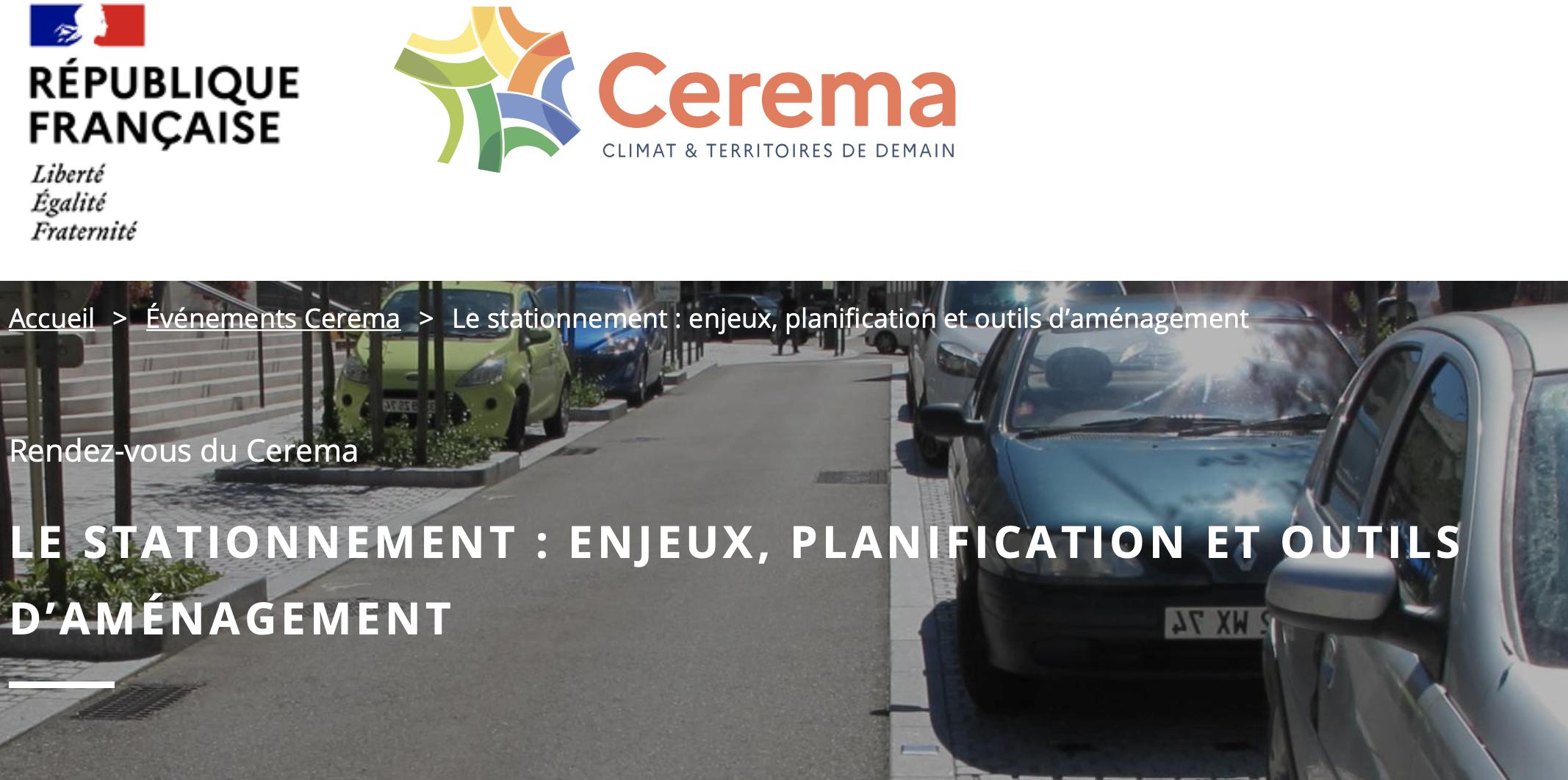 RDV du Cerema : stationnement