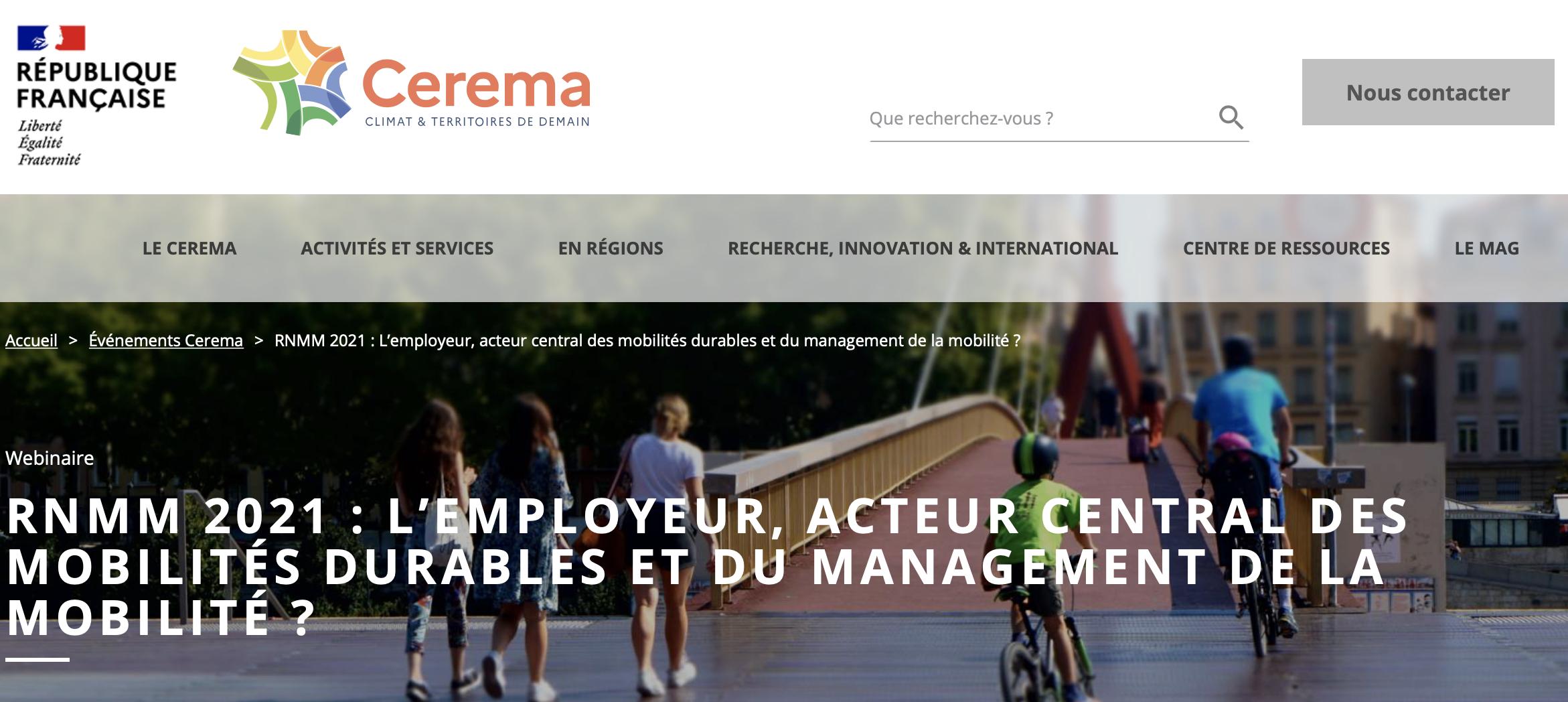 Rencontres nationales management mobilité