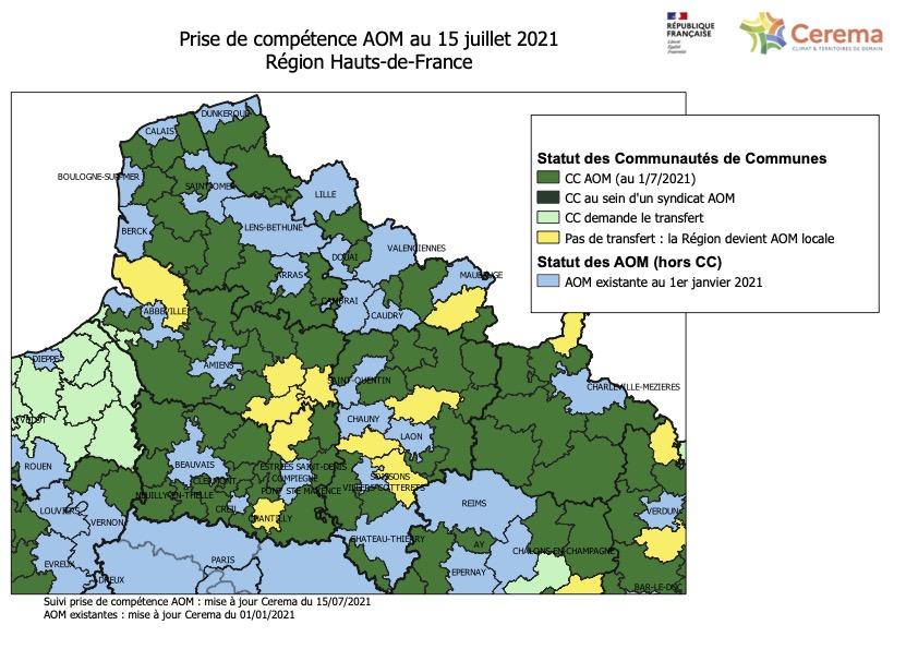 Nouvelle cartographie de la compétences mobilité dans les Hauts-de-France